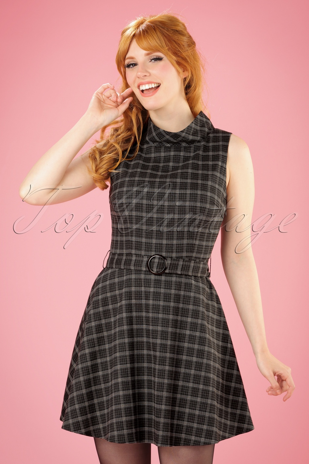 1960s – 70s Dresses- Retro Inspired Fashion 60s Ruth Flared Mini Dress in Grey Tweed £53.34 AT vintagedancer.com
