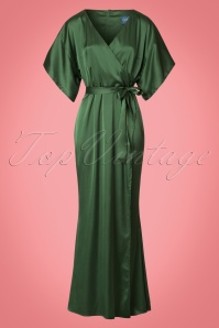 Collectif Clothing Akiko Maxi Dress in Olive 21825 20170612 0006w