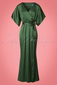 Collectif Clothing Akiko Maxi Dress in Olive 21825 20170612 0006w