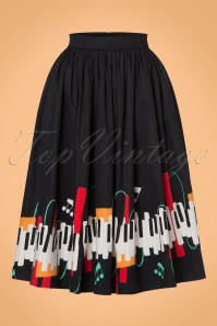 Collectif Clothing Jasmine Jazz Piano Swing Skirt 21903 20170606 0011w