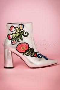 Daisy street Silver Flora Booties 441 92 21510 27092017 006W