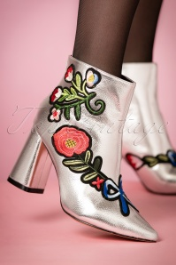 Daisy street Silver Flora Booties 441 92 21510 27092017 002W