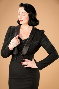 30s Jolie Blazer Jacket in Black