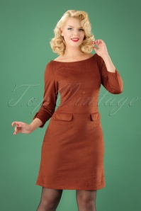 Le Pep Pencil Dress in Rusty Red 100 21 21560 20170915 0002 (2)W