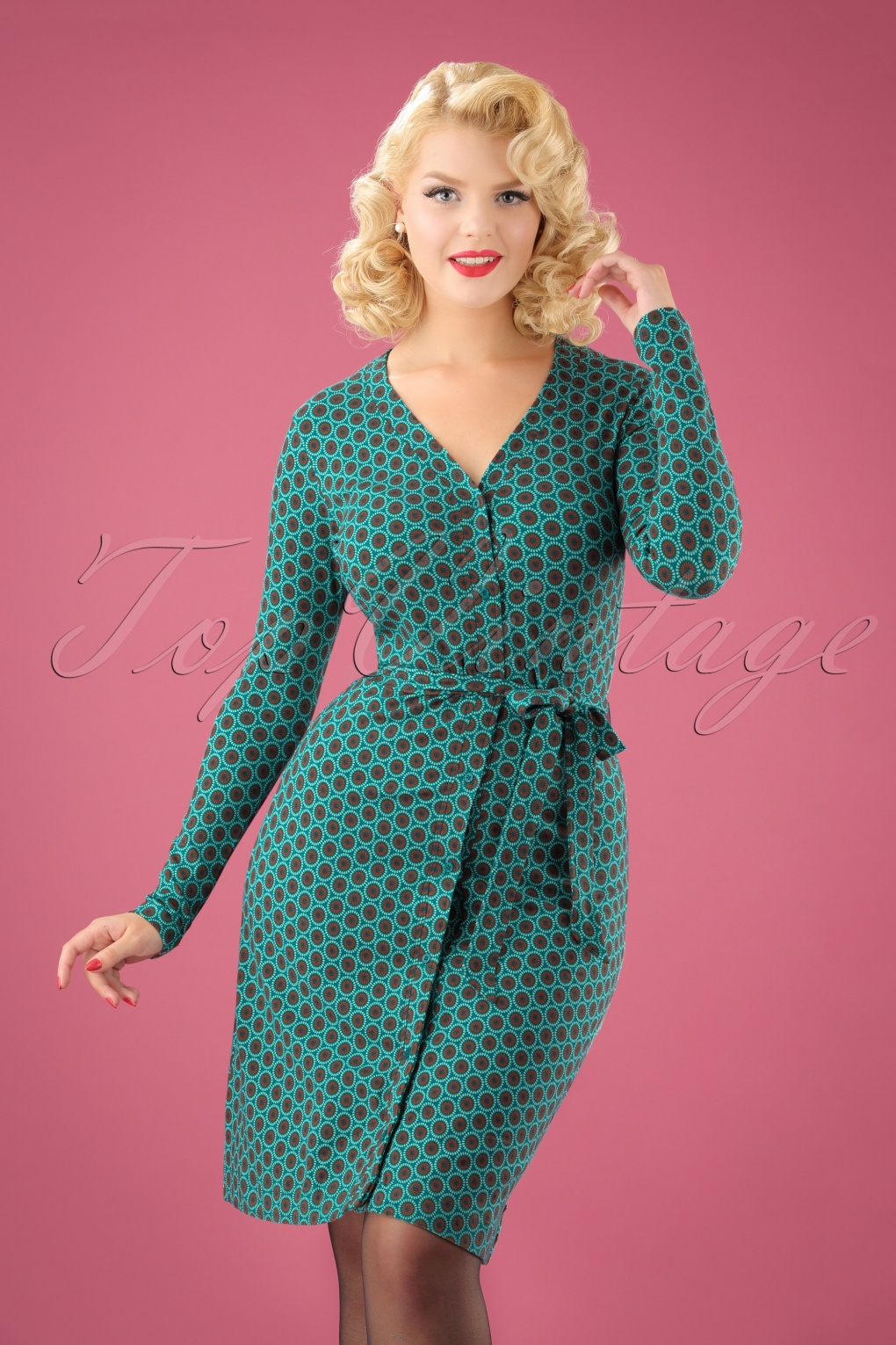 1960s – 70s Dresses- Retro Inspired Fashion 60s Susies Shuffle Dress in Blue £80.04 AT vintagedancer.com