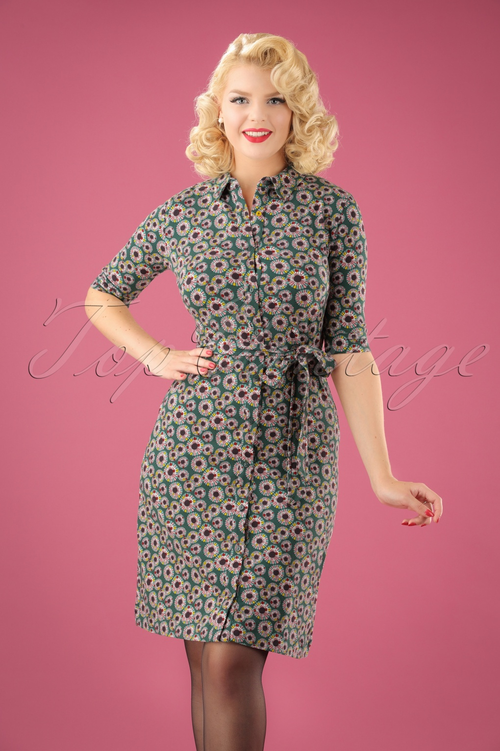 1960s – 70s Dresses- Retro Inspired Fashion 60s Love Me Now Dress in Green £88.94 AT vintagedancer.com