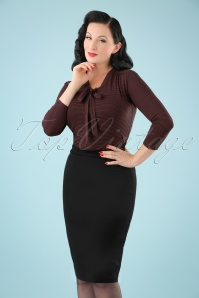 Banned Retro 50s Paula Pencil Skirt in Black
