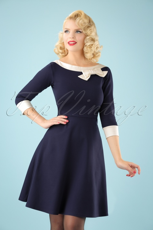 Fever Dreamboat Navy Dress 102 31 22329 20170915 0001 (2)W