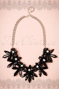 Amici Black Stone Necklace 300 10 22345 06282017 002W