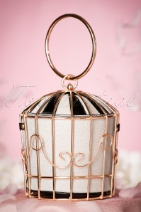 Victorias Gem Birdcage Bag in White 212 59 23027 04032017 013W