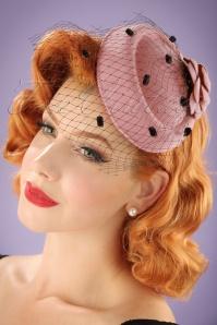 50s Jemima Wool Hat in Blush