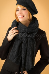 King Louie Scarf Tatum black 240 10 21374 model01W