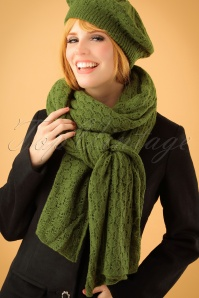 King Louie Scarf Tatum Olive Green 240 40 21375 model01W