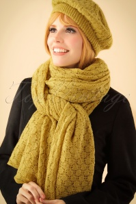 King Louie Scarf Tatum Yellow 240 80 21378 model01bW