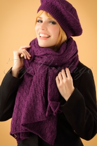 King Louie Scarf Tatum Purple 240 60 21376 model01W