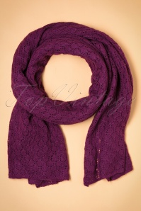 King Louie Scarf Tatum Purple 240 60 21376 aW