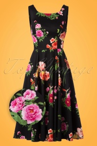 Hearts & Roses Black Multi Floral Swing Dress 102 14 22736 20171010 0010wv