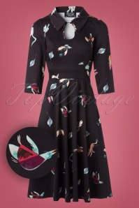 Hearts & Roses Black Birds Swing Dress 102 14 22726 20171010 0011W1