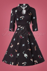 Hearts & Roses Black Birds Swing Dress 102 14 22726 20171010 0002W