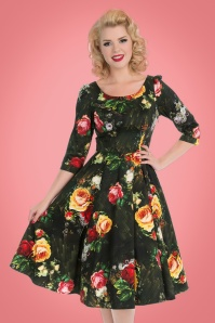 Hearts & Roses Roses Floral Swing Dress 102 14 22728 20171010 0013