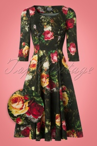 Hearts & Roses Roses Floral Swing Dress 102 14 22728 20171010 0005wv