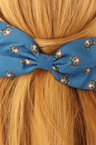 Lindy Bop Blue Cat bow Hairclip 208 39 23334model02