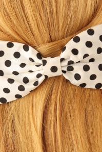 Lindy Bop Polkadot Bow Hairclip 208 59 23333model02