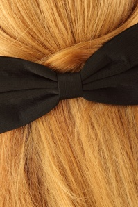 Lindy Bop Black Bow Hairclip 208 10 23332 model02