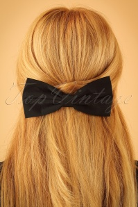 Lindy Bop Black Bow Hairclip 208 10 23332 model01Wjpg
