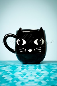 Lucky the Black Cat with Ears Mug Années 60