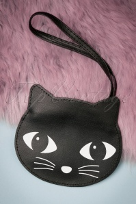 Lucky the Black Cat Coin Purse Années 60