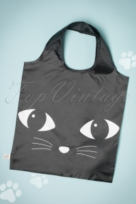 Lucky the Black Cat Black Cat Foldable Shopping Bag 213 10 23327 10102017 004W