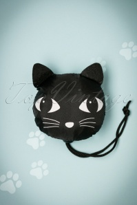 60s Lucky the Black Cat Foldable Shopping Bag