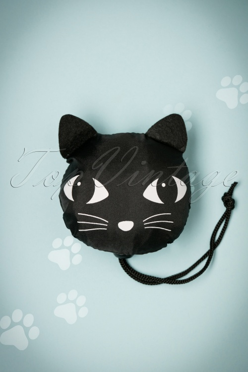 Lucky the Black Cat Black Cat Foldable Shopping Bag 213 10 23327 10102017 001W