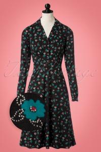 50s Diner Melody Dress in Black