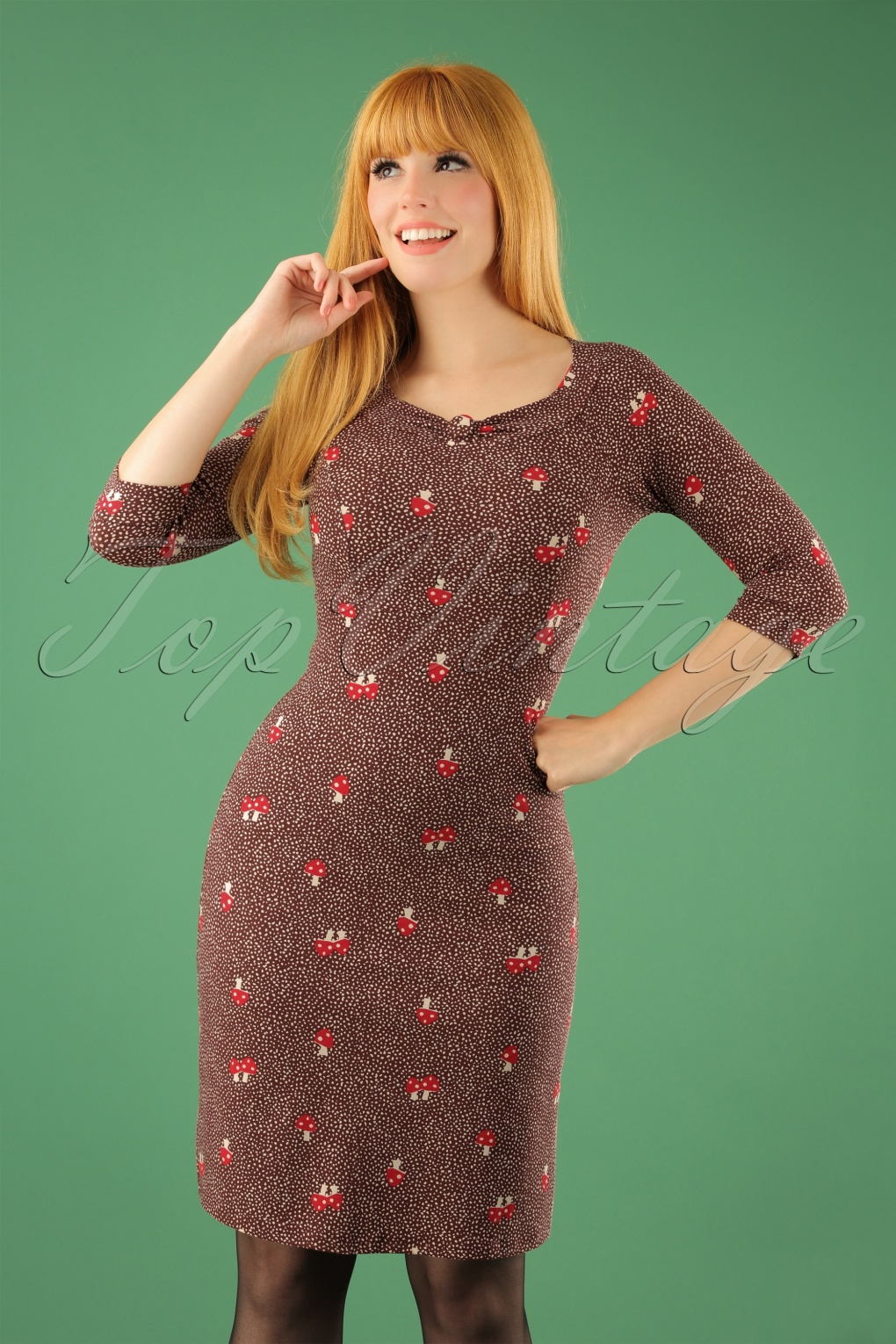 1960s – 70s Dresses- Retro Inspired Fashion 60s Love To Love Dress in Mish Mush Brown £62.24 AT vintagedancer.com