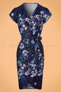 Yumi Botanical Blue Foral Wrap Dress 100 39 21915 20170915 0002W