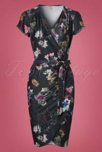 Yumi Dark Green Floral Wrap Dress 100 19 21916 20170915 0003w