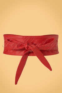 50s Obi Wrap Belt in Red