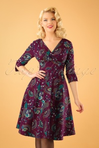 Dancing Days by Banned Franky Peacock Dress in Purple 102 27 22358 20170912 1W