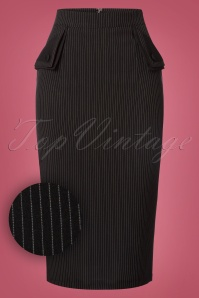 Banned Purple Haze Black and White Striped Pencil Skirt 120 14 22361 20170828 0002wv