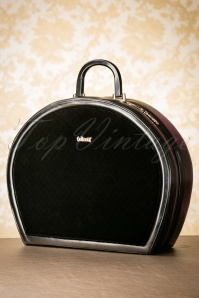 50s Tammy Velvet Travel Bag in Black