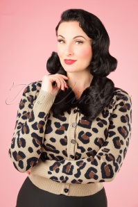 Collectif Clothing Pietra Leopard Print Cardigan 21768 20170607 1W