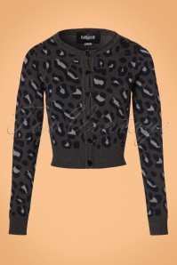 Collectif Clothing Pietra Leopard Cardigan in Coal 21769 20170607 0007W