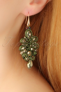 20s Maude Earrings in Green