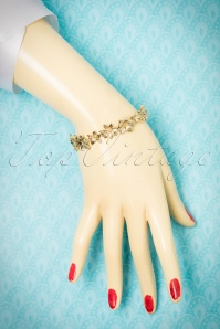 Collectif Clothing Golden Floral Bracelet 310 91 21635 10102017 013W