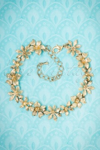 Collectif Clothing Golden Floral Bracelet 310 91 21635 10102017 002W