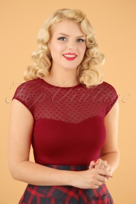Miss Fancy Heart Top en Rouge