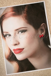 Collectif Red bow earrings 330 20 21638 06072017 010W