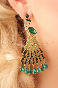 Vixen Peacock Earrings 333 40 23046bW